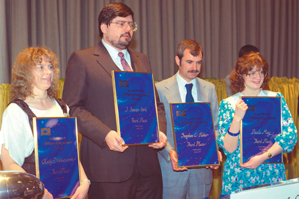 Winners K.D. Wentworth, J. Steven York, Stephen C. Fisher and Paula May