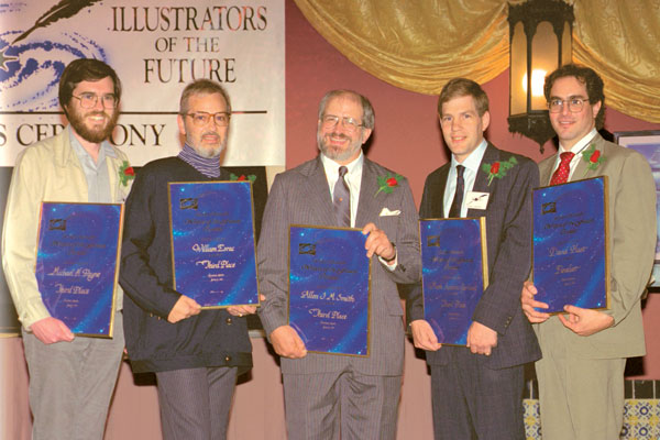 Third Place winners Michael H. Payne, William Esrac, Allen J. M. Smith, Mark A. Garland and Finalist David Hast.