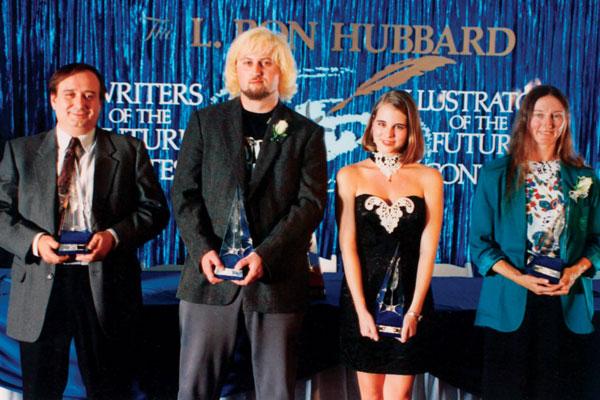 First Place winners Eric Flint, Steve Duff, Karawynn Long and Lisa Maxwell.