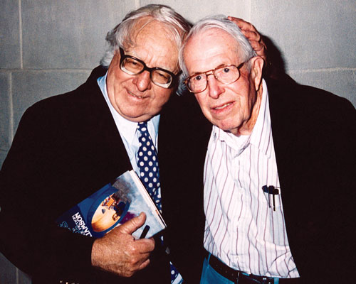 Ray Bradbury and old friend Jack Williamson
