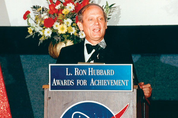 Astronaut Norman Thagard gives his guest speech at the ceremonies.