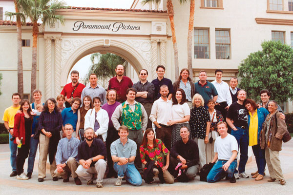 Writers workshop and guests tour Paramount Studios.