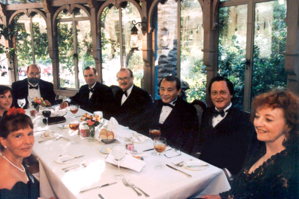 The banquet before the Awards ceremony at the Renaissance Restaurant in Hollywood's Chateau Elysée