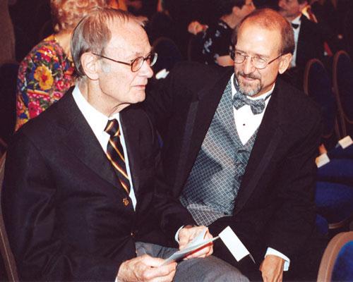 Astronomer Dr. Robert Jastrow with WotF judge Dr. Doug Beason