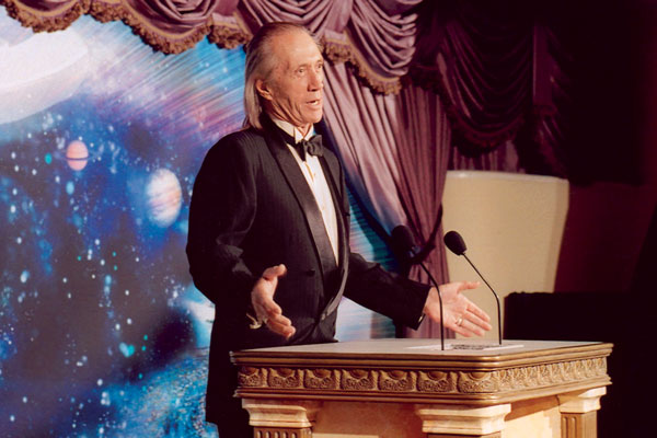 Celebrity presenter David Carradine.