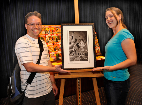 Brent Knowles and Rebecca Gleason and art for his story.