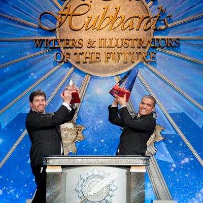 Gold Award Winners (l) Writer Richard Johnson and (r) Illustrator Irvin Rodriguez