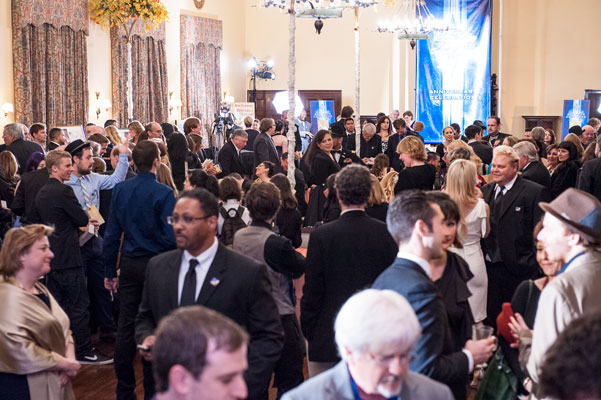 The reception following the awards ceremony.