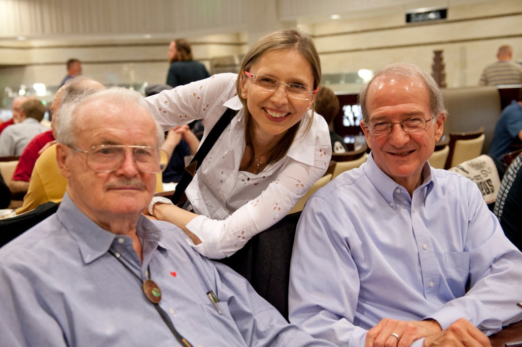 Jerry Pournelle, Gunhild Jacobs and Doug Beason.