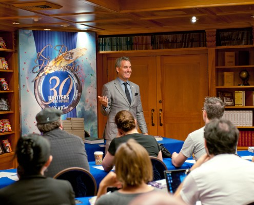 President Galaxy Press, John Goodwin opens the seminar