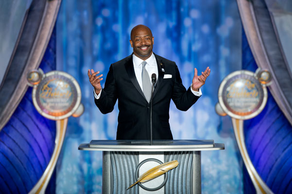 Keynote speaker Leland Melvin, Aerospace Engineer and NASA astronaut.