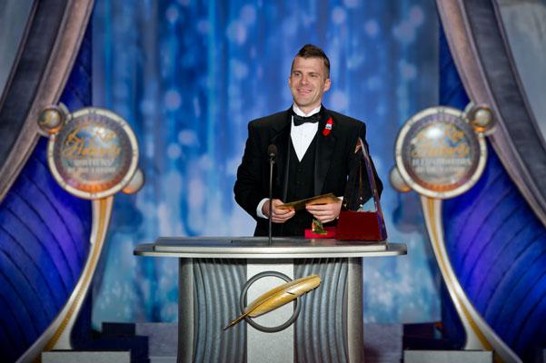Illustrator Golden Brush Award Winner Trevor Smith.