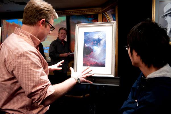 Writer Austin Habershaw with artist Jimmy Liu.