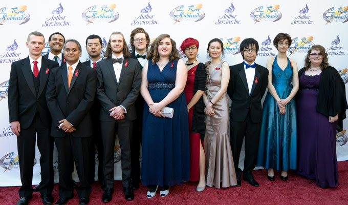 Illustrator winners on the red carpet.