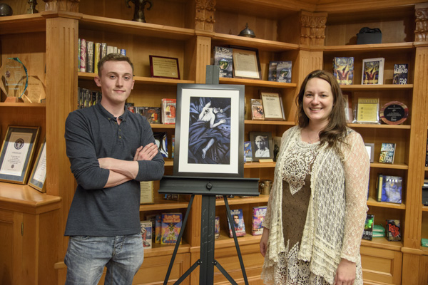 Illustrator Brandon Knight with writer Sylvia Hiven.