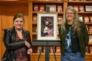Illustrator Vlada Monakhova with author Julie Frost.