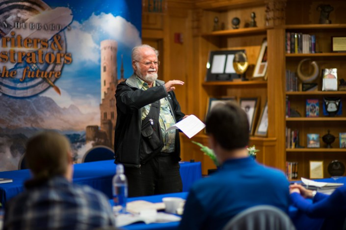 Larry Niven talks to the Writer winners