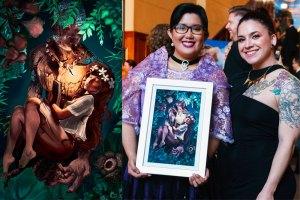 Writer Vida Cruz (l) with Illustrator Reyna Rochin (r)