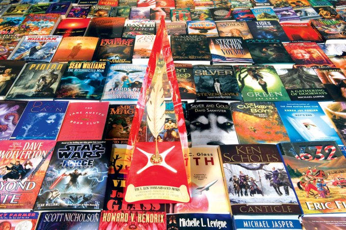 Writers of the Future Golden Pen Award and books published by the winners