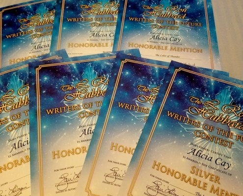 Alicia Cay certificates