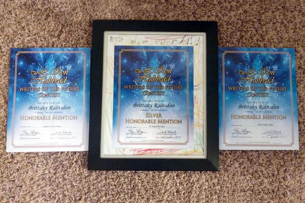 Rainsdon Brittany Certificates
