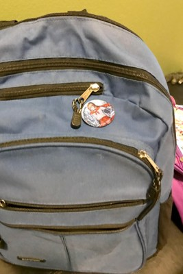Backpack with Moongirl button
