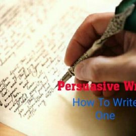 How to write a successful persuasive writing in 2 ways