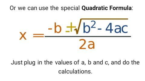 visual content quadratic formula