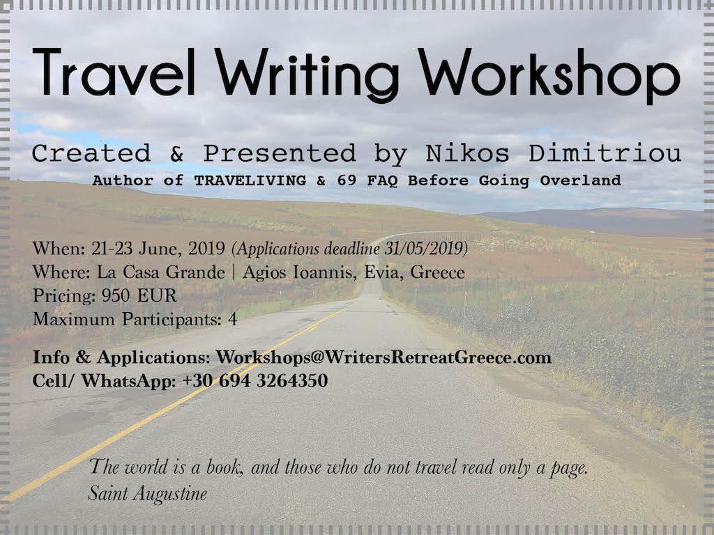 Travel Writing Workshop in Greece