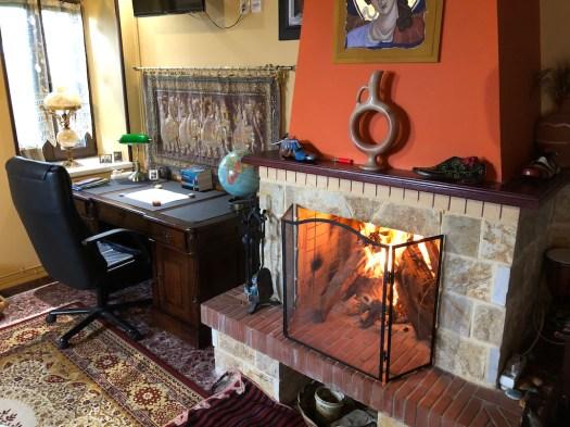 La Casa Grande Desk & Fireplace