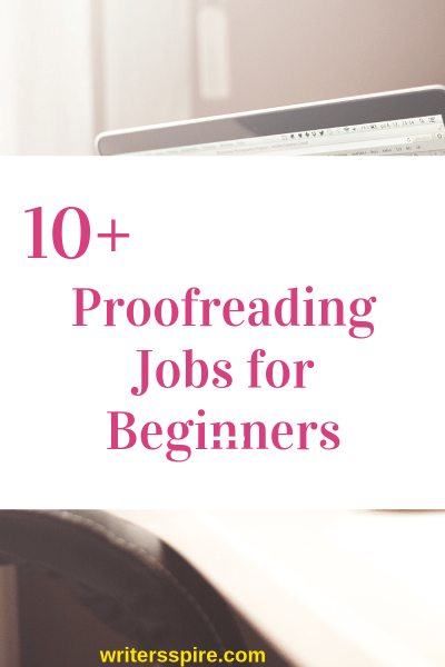 Online proofreading jobs for beginners