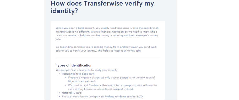 how to verify transferwise account