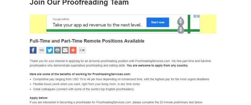 Online proofreading jobs