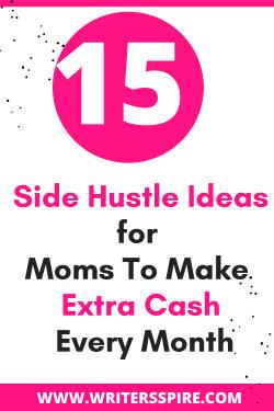 side hustle ideas for moms