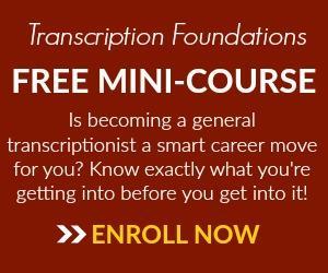 Transcribe Anywhere mini transcription course