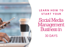Social media manager training