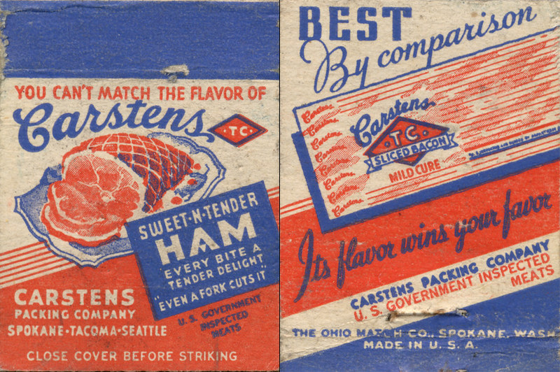 Carstens Packing Company Matchbook
