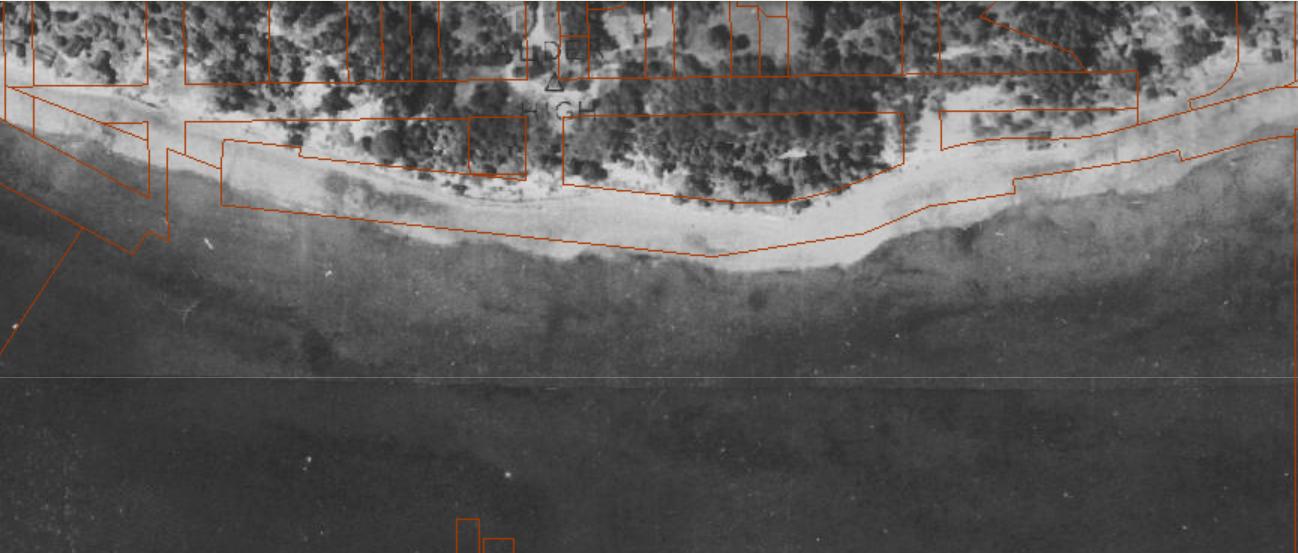 Aerial photograph of Elliott Bay Marina area in the 1930s