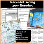 Free independent learning pack for upper elementary/ middle grades