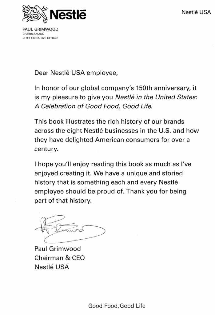Testimonials From Published Company History Books