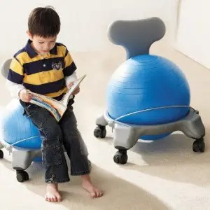 boy on yoga ball chair 20