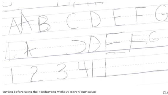Begins with a comprehensive handwriting evaluation and