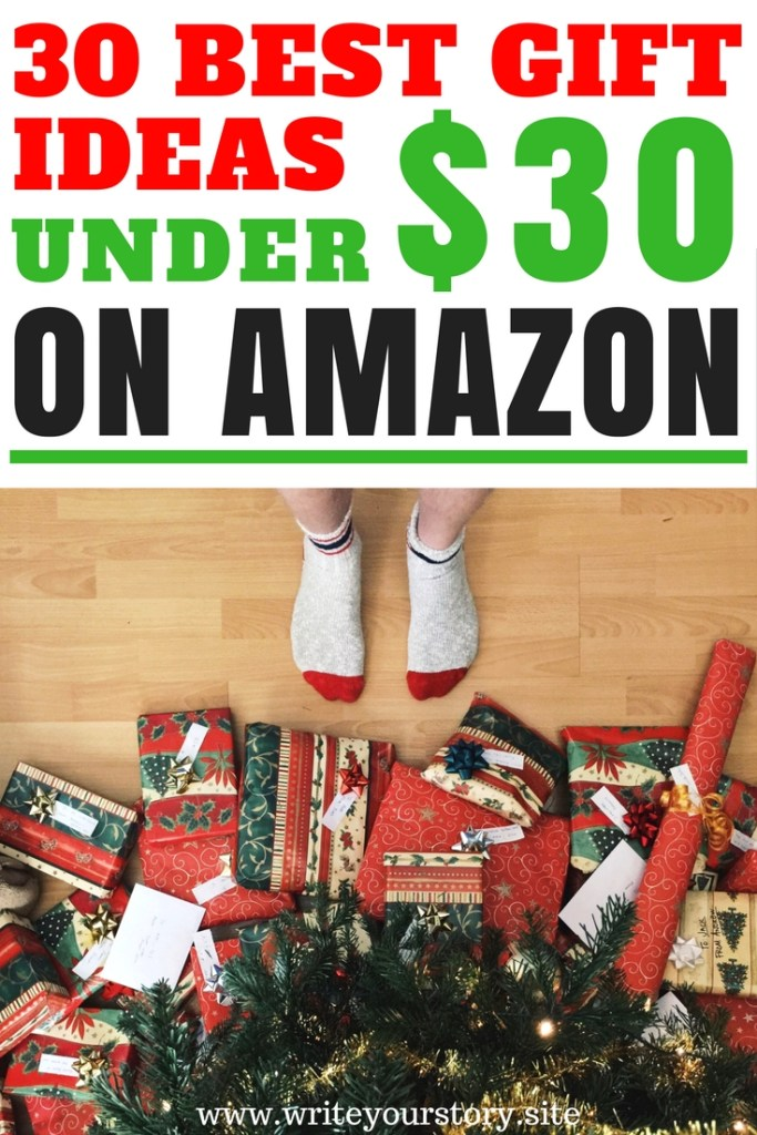 Are you tired of never knowing what gift to buy him or her for Christmas?! These 30 cool gifts ideas under 30 dollars will end your shopping hunt today!