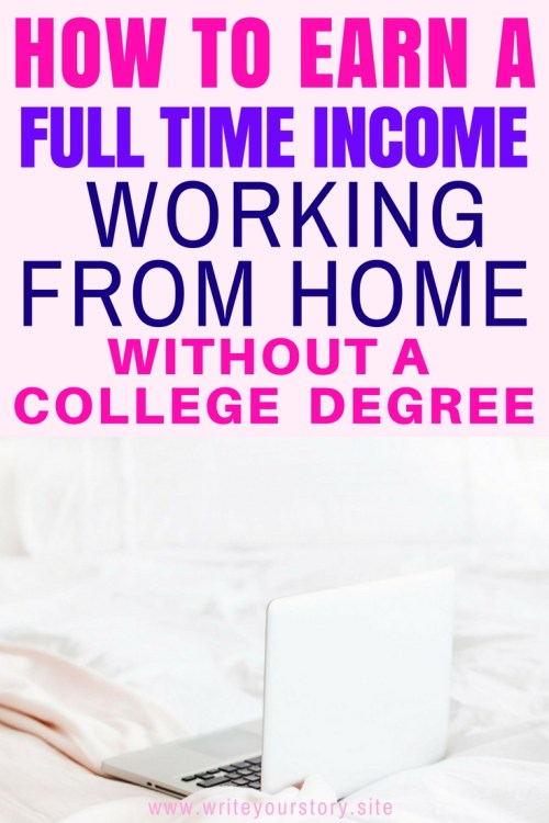 work from home to make a full time income