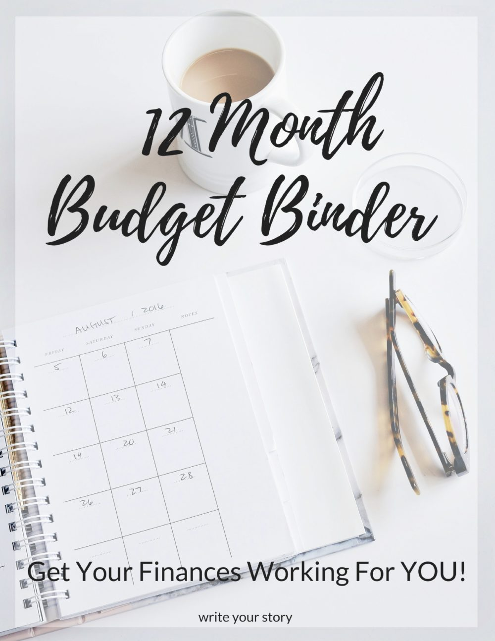 12 month budget binder write your story