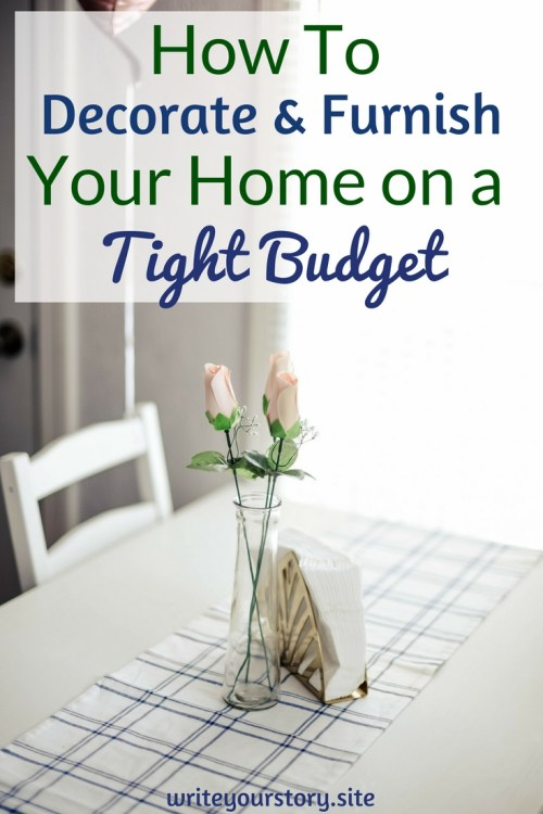 decorate and furnish home on a tight budget - How To Furnish Your Home