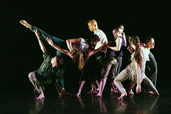LCDS undergraduates in Ori Flomin's Things Happen Just (photo: Alicia Clarke)