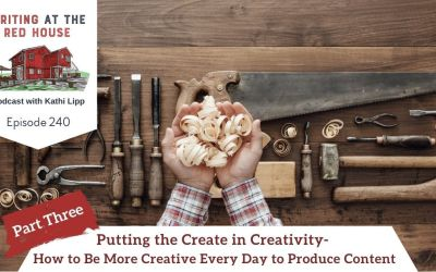 240 Putting the Create in Creativity – How to Be More Creative Every Day to Produce Content – Part 3