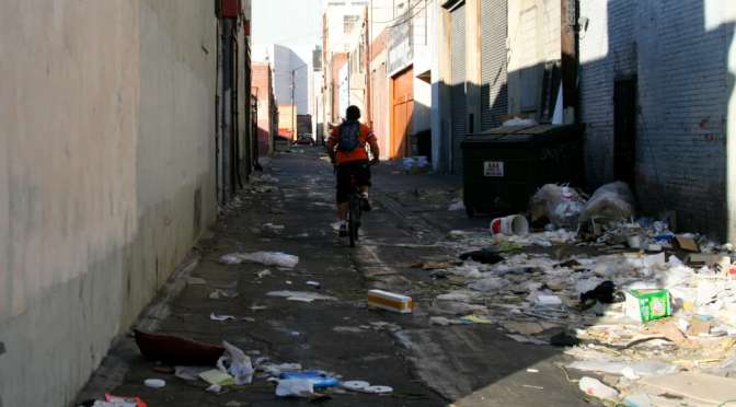Alleys of East downtown Los Angeles