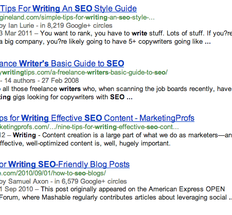 Writing for Google or people?